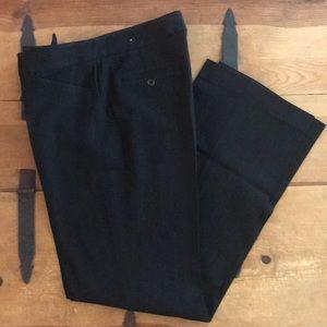 Rafaella Womens Black & White Pinstripe Pants